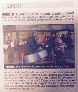 Article chants de Noël 2014